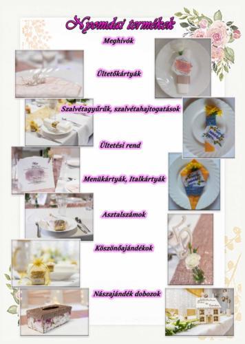 Nyomdai termékek